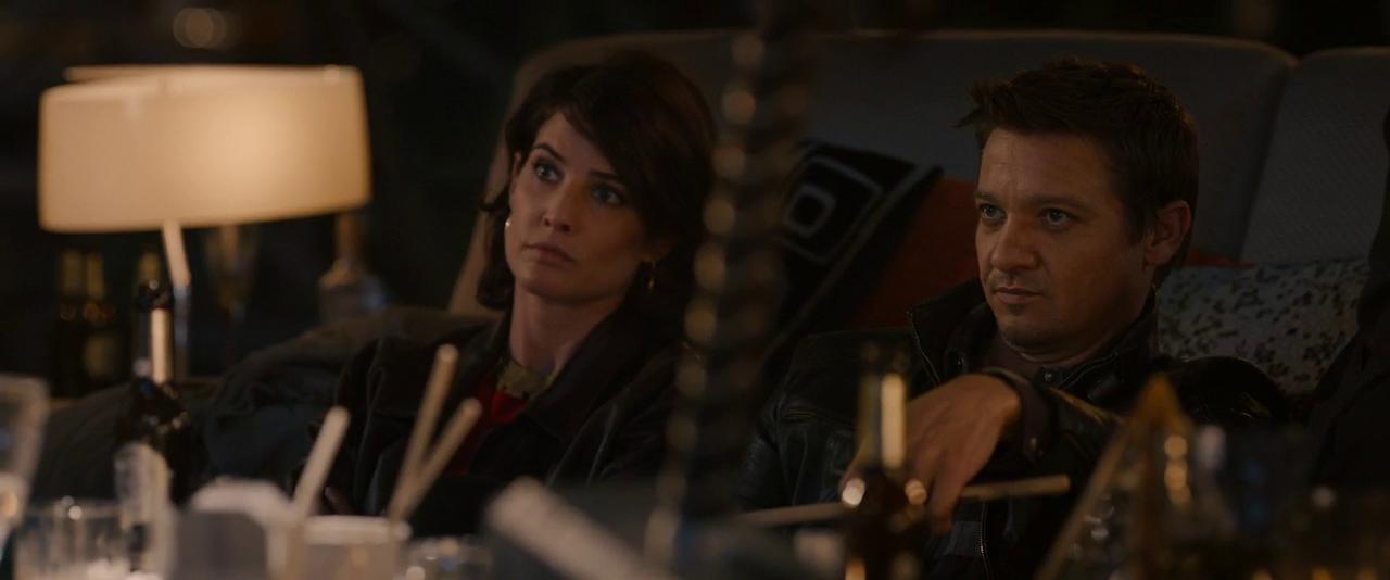 Maria Hill and Clint Barton