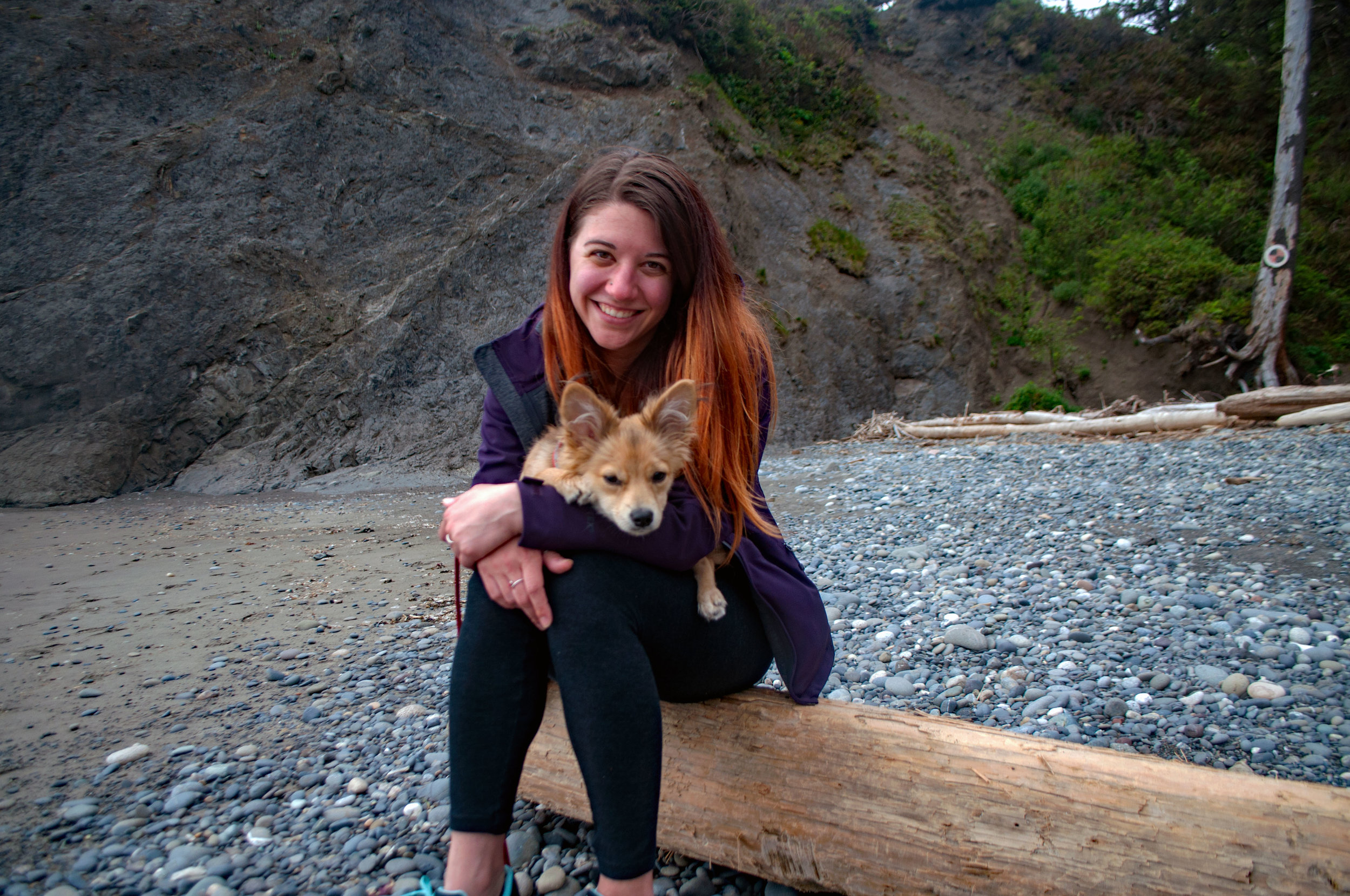 Deanna and Senzu at Hole in the Wall Beach