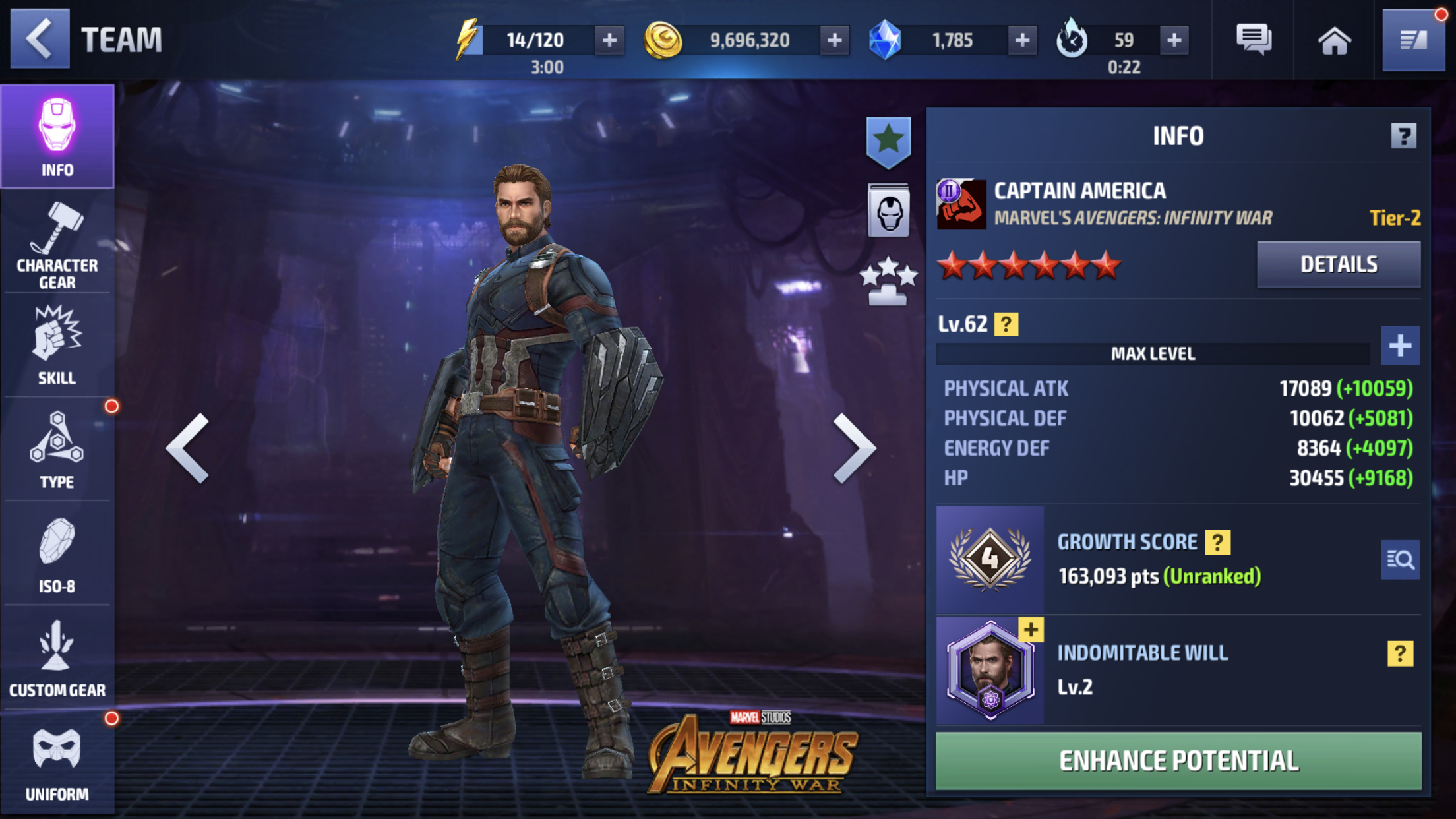 Captain America in Marvel Future Fight (Netmarble)