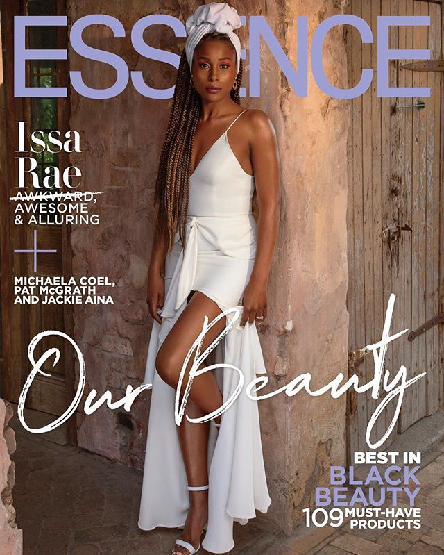 ISSA MF RAE!!! This @essence cover celebrating black beauty is EVERYTHING 😍