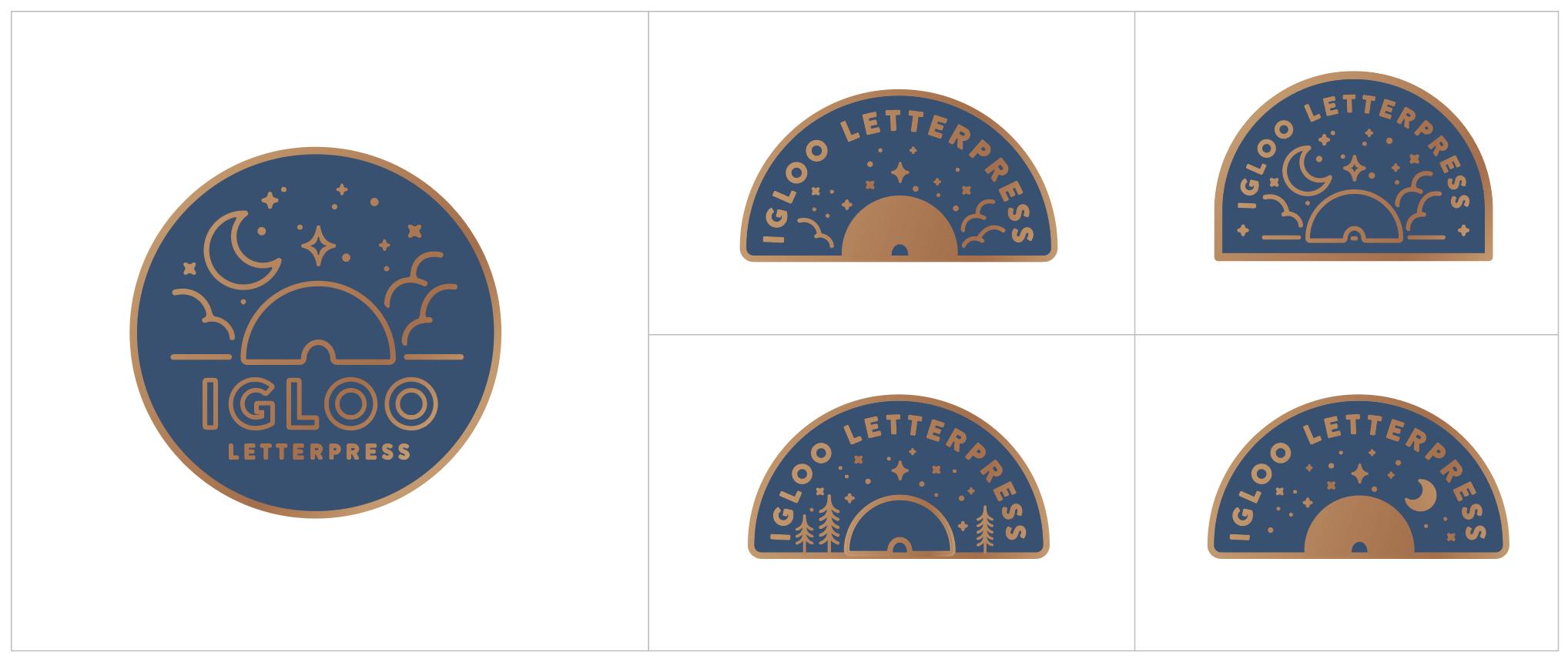 Igloo Letterpress | Enamel Pin Options