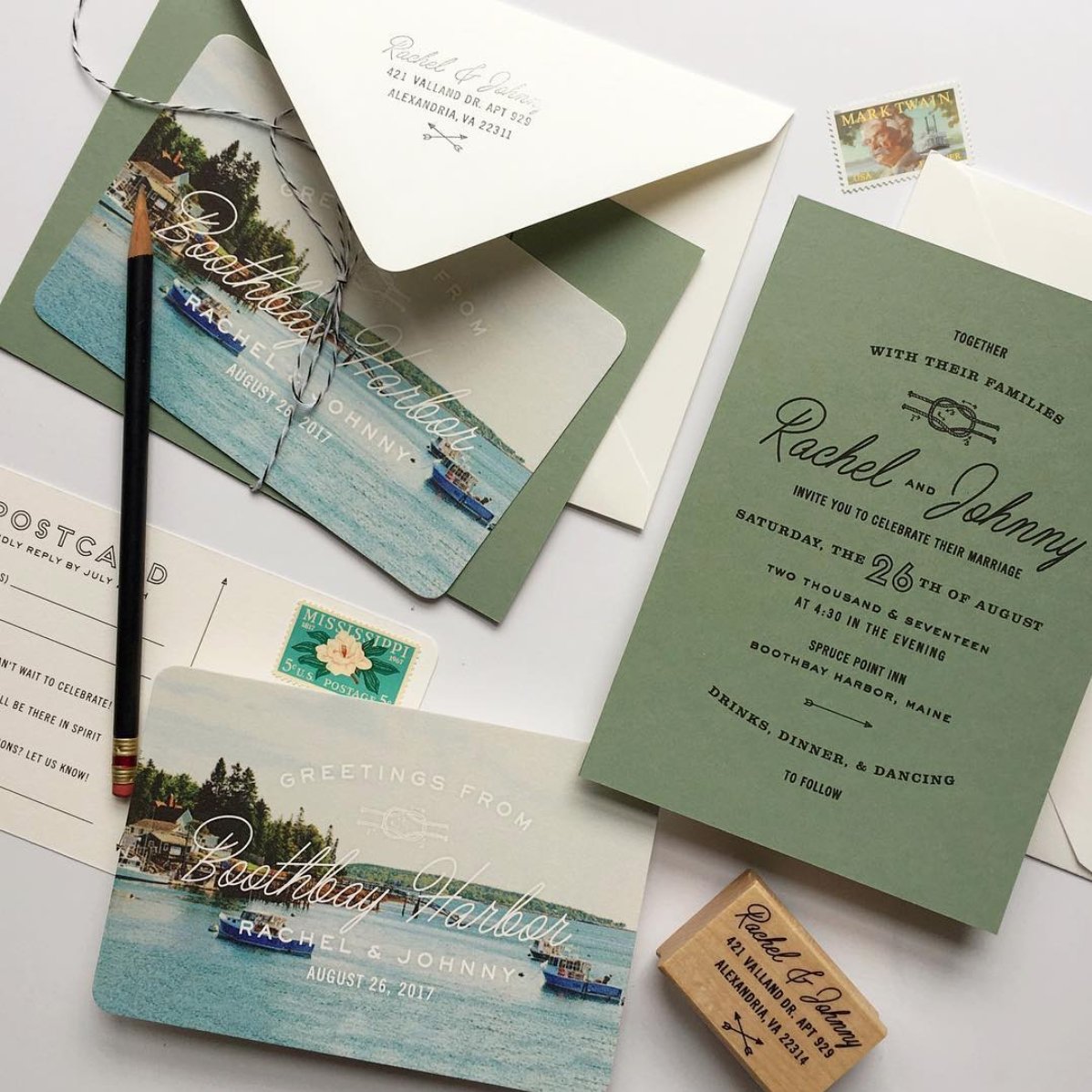 This stationery is based on our Kate Suite.