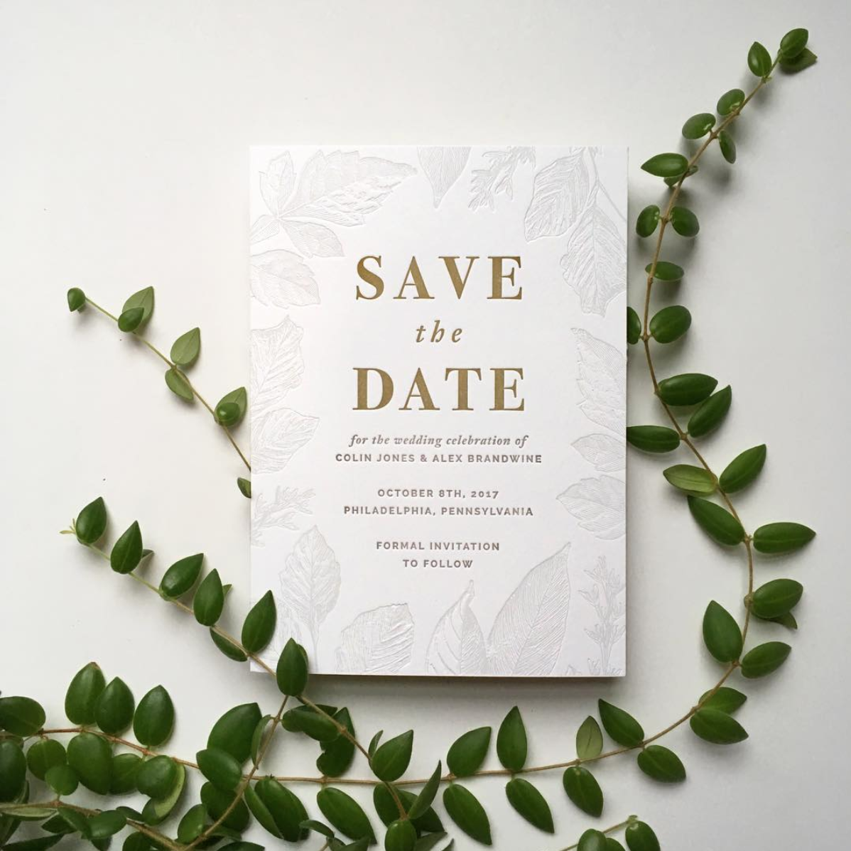 A custom Save the Date created for an Igloo Letterpress client.
