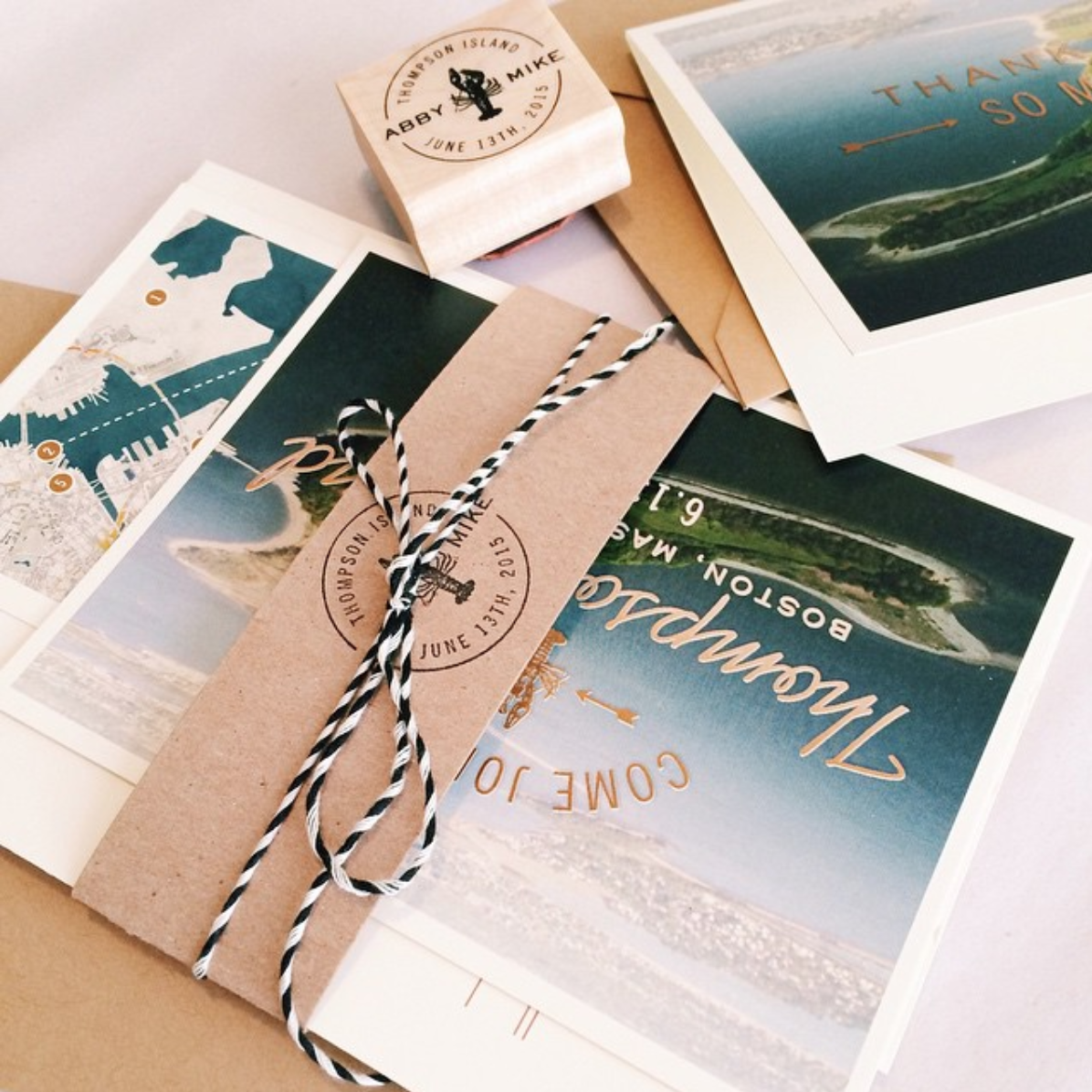 An archived version of our Kate Suite, customized for a coastal affair.