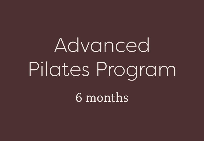 Advanced Pilates Program