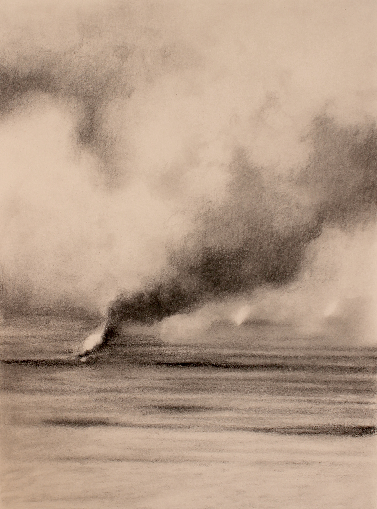 desert (iraq) 1, 2017, 10 x 15 inches, graphite on paper