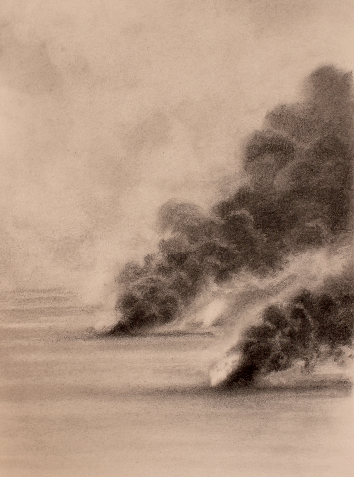 desert (iraq) 2, 2017, 10 x 15 inches, graphite on paper