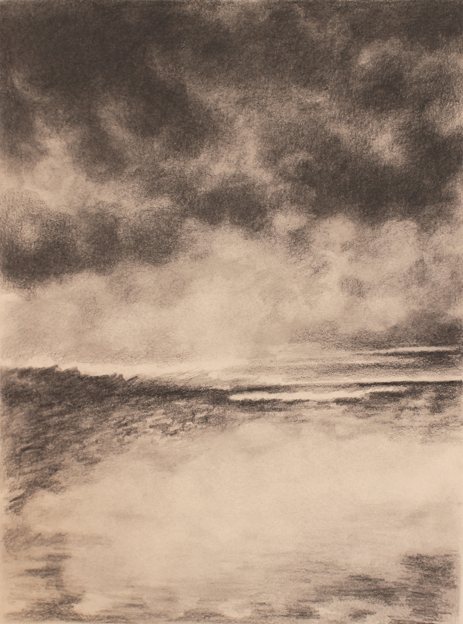 desert (iraq) 3, 2017, 10 x 15 inches, graphite on paper