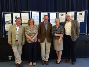 (Left to right) Cllr Jim Sanson, Anna Worthington-Leese, Chairman of Storrington & Sullington Parish Council, Nick Herbert MP, Cllr Diana van der Klugt, Cllr Philip Circus.
