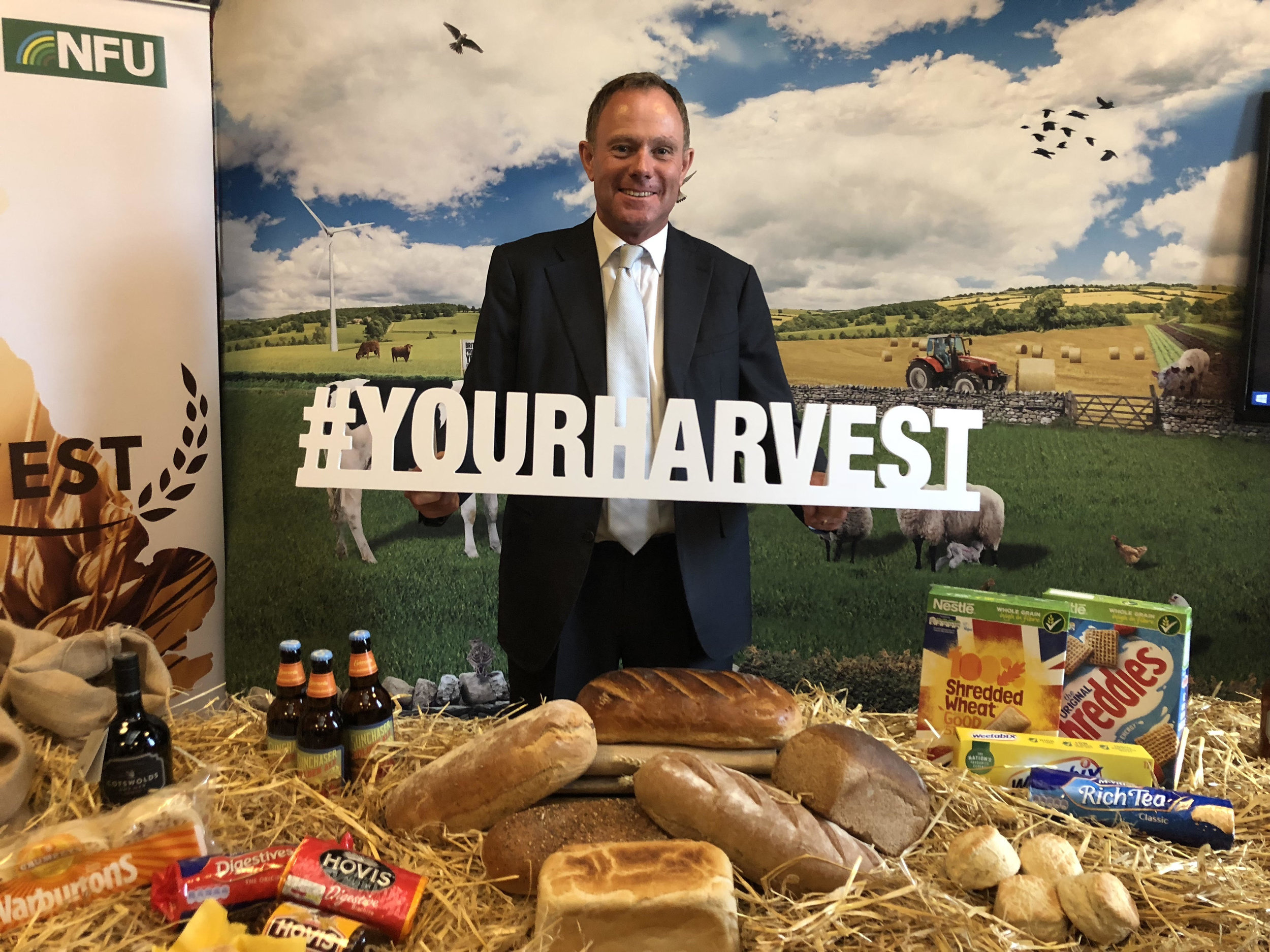 Nick Herbert MP (Arundel & South Downs) supporting the 'Your Harvest' event in Parliament hosted by the National Farmers' Union to promote cereal farming.