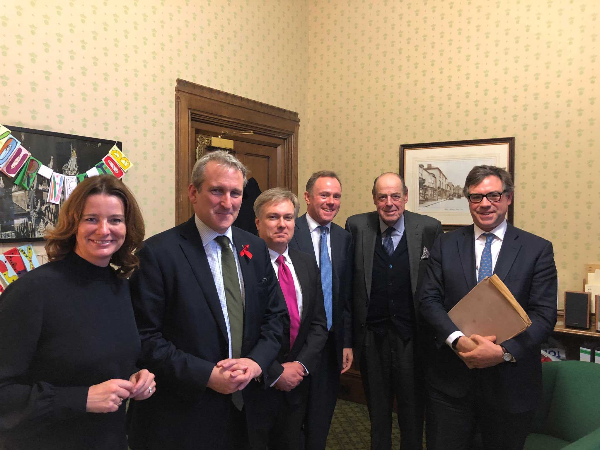 Nick and his fellow West Sussex MPs meet the Education Secretary, Damian Hinds, to lobby for better funding locally - 29 November 2018.
