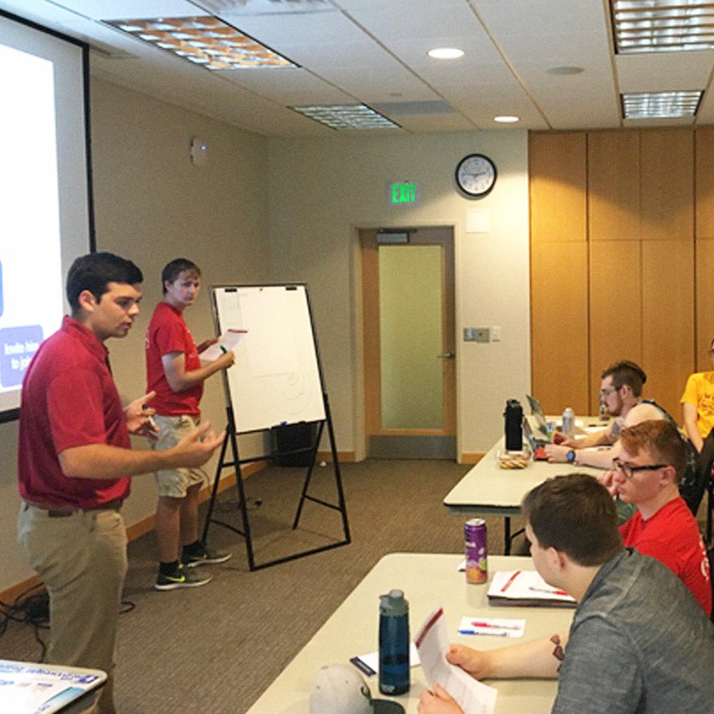 Facilitating at the University of South Dakota.