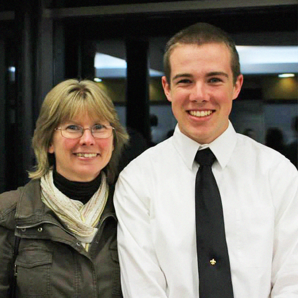 Brother Brian King (WPI) with his mother, Karen King, who passed away from ovarian cancer.