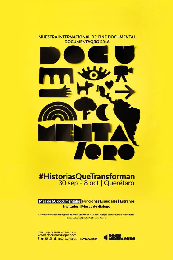 Identidad MUESTRA INTERNACIONAL DE CINE DOCUMENTAL DE QUERÉTARO 2016