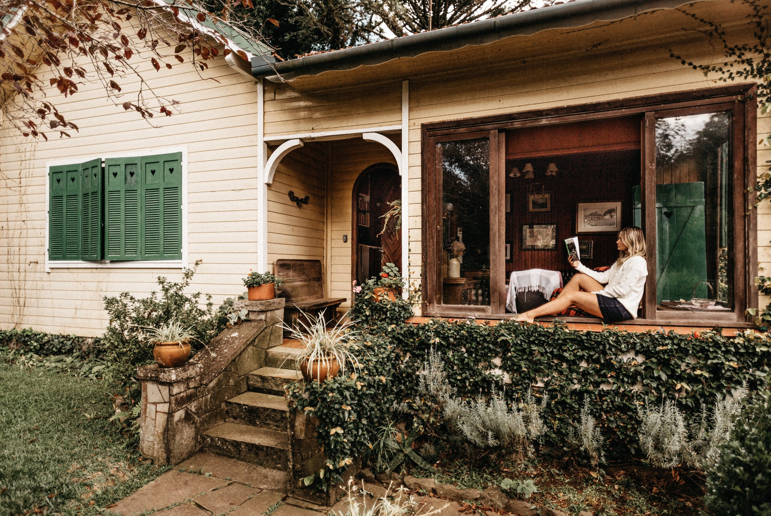 Porch + book + scones = a pretty good Sunday afternoon…