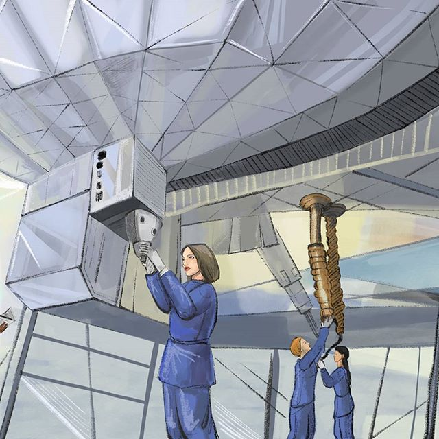 What if that first Mars ship, crewed by women, had been designed and built by women?  #women #engineering #space #newzealand #fem2