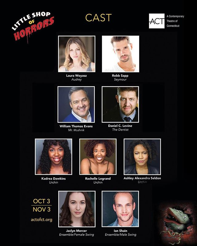So thrilled to create with this incredible cast! Come see Little Shop of Horrors @act with direction and choreography by yours truly! #director #choreographer #somewherethatsgreen