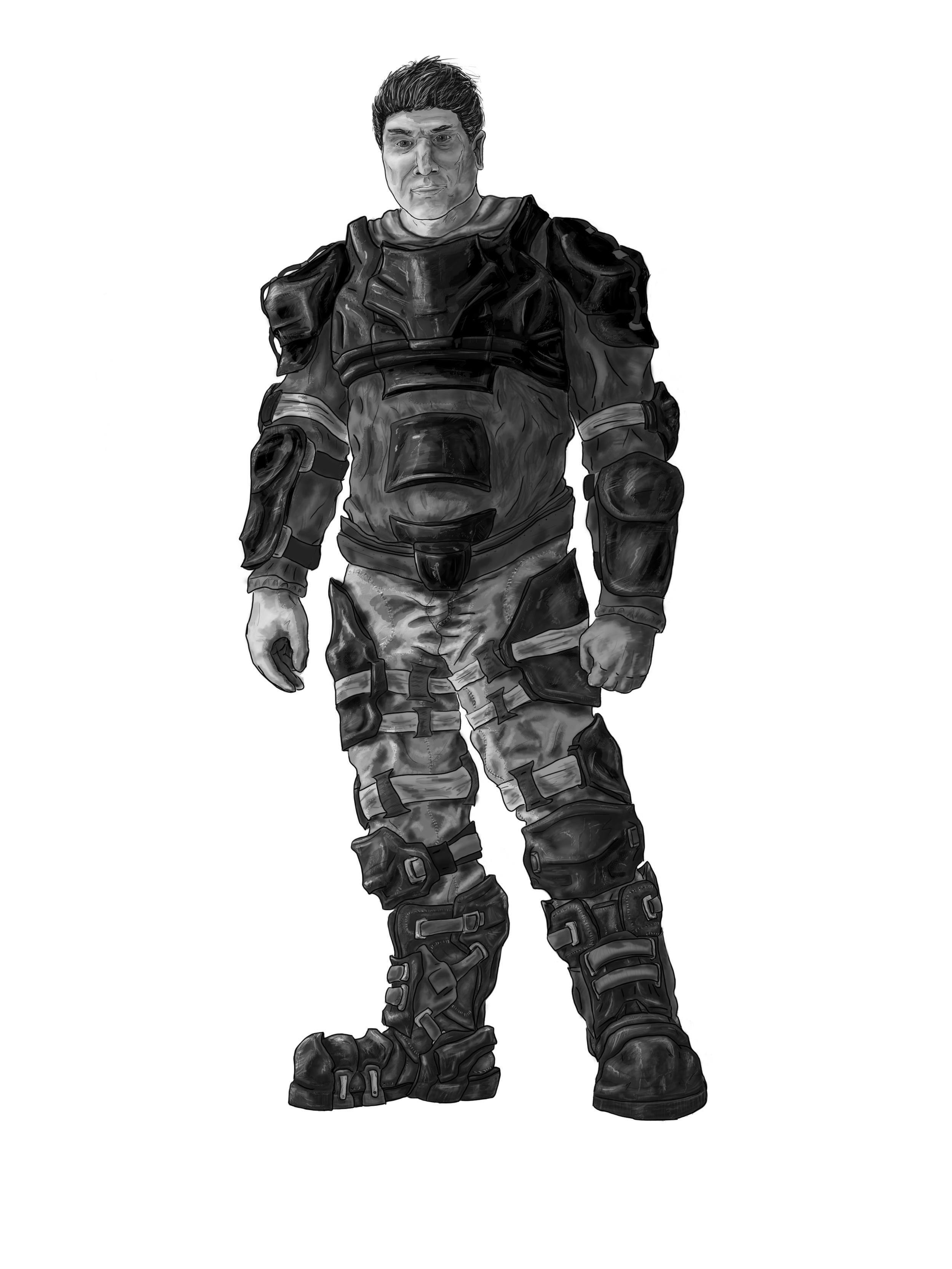 NPC Daryle Concept - Greyscale