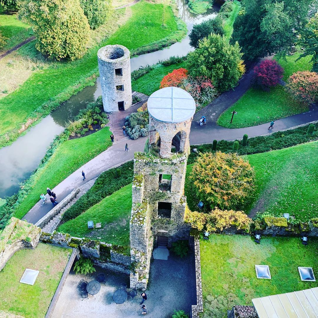 At the top of Blarney Castle