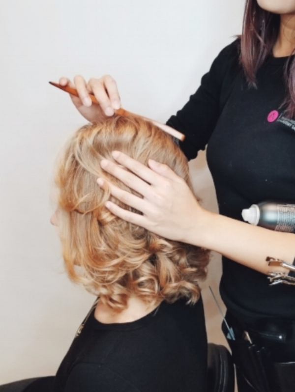 4. Polish the Look - To avoid having a frizzy mess after creating tons of volume, brush out the outside of the hair with a Teasing Brush very gently. Preserve the backcombing by not completely brushing out the inner roots of the hair. *To tame even the smallest fly-aways, spray the Teasing Brush with hairspray before brushing.*