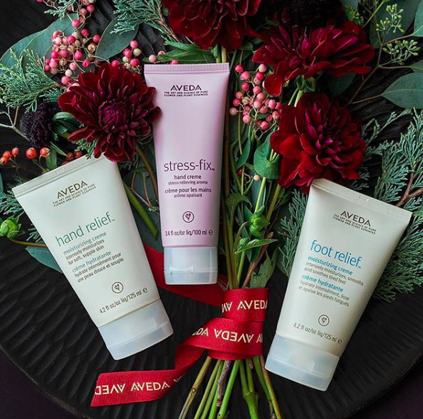 3. for you - Stop by an Aveda salon for a soothing scalp massage as an add-on to any color or conditioning treatment, or pop into an Experience Center for a (free!) stress-relieving hand ritual using our Hand Relief Moisturizing Creme with our comforting Candrima aroma.