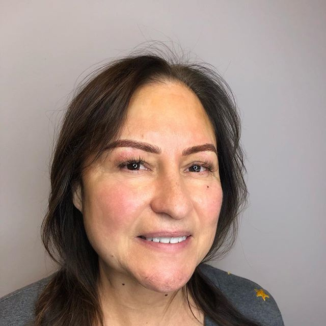 Brought these beauties back to life with combo brows! Love these new brows on Stacy, who happens to be a cancer survivor! #browreformation #cancersurvivor