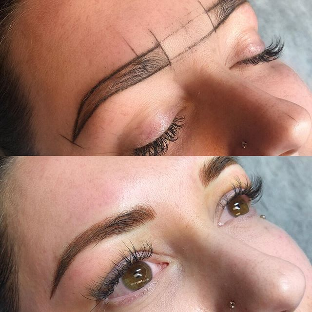 A subtle brow transformation for this gorgeous! #browreformation #combobrows