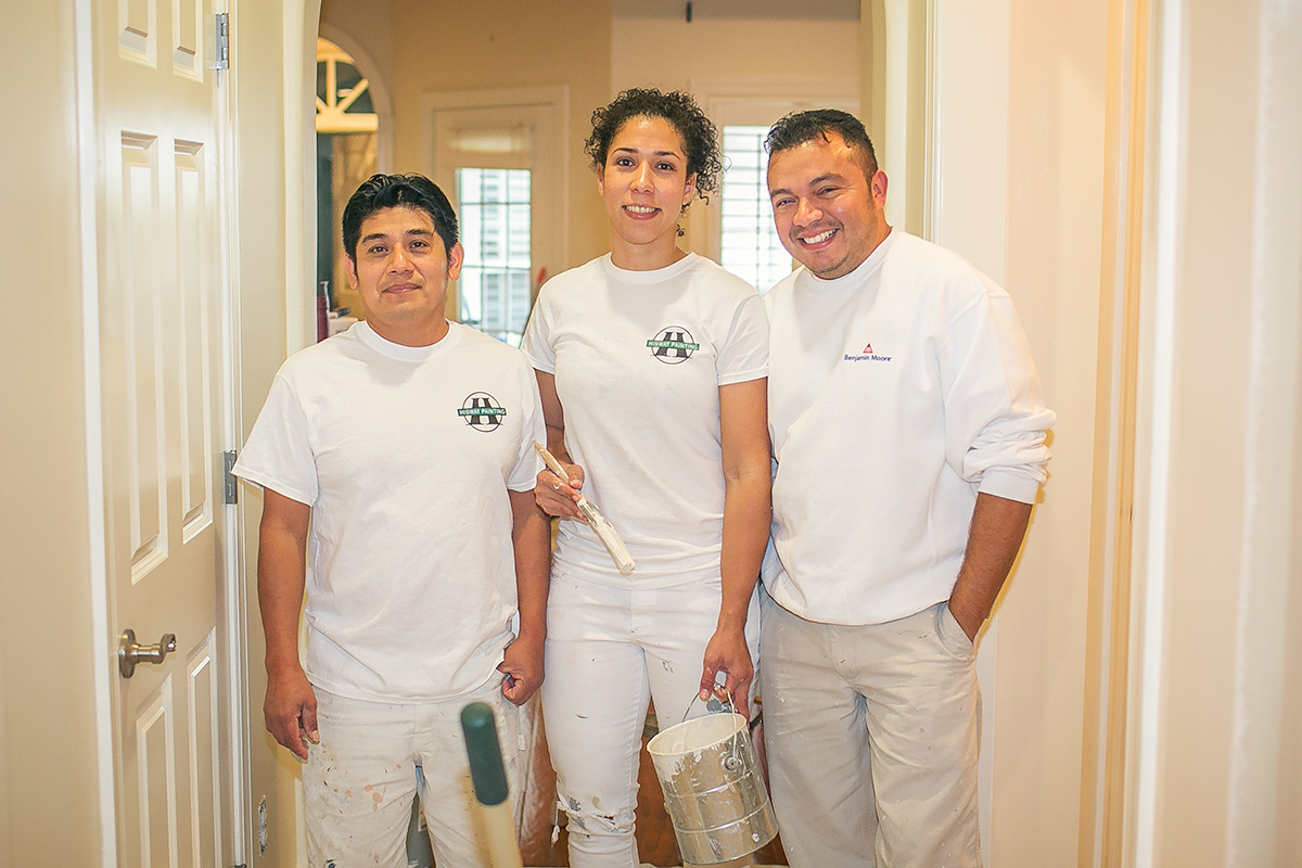 Efren, Isis, and Mauricio - long time employees and members of our painting crew