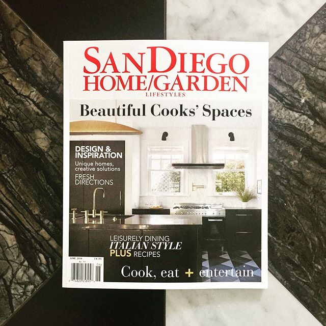 Restaurant or residence? 😉 Beyond thrilled and humbled to have my very own kitchen on the COVER of the June Issue of @sdhomegarden and selected as one of the 2019 Kitchens of the Year!!! What a way to kick off the summer 💥Thank you @sdhomegarden @wmanwarren @evaditler @samanthagohphoto and to the judges!! Being your own client comes with challenges, but a labor of ❤️ to renew this 1912 historic home .... a dream come true!  #sandiegohomegardenmagazine #klidhome #kristinlomaurointeriordesign #kitchenoftheyear2019 #blackandwhite #kitchen #interiordesign