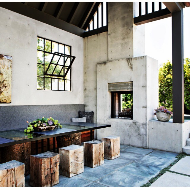 Who's excited to dine outdoors ? ☀️ The warm weather is on its way this weekend !! This dining pavilion of our project in LaJolla is ready for the guests to arrive. #luxemagazine #interiordesign  #outdoordining #kristinlomaurointeriordesign 📸 @karynmillet