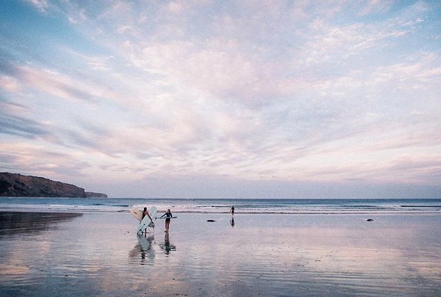 Last wave, Last light. Saturday nights in #35mm @spiritualpretzel @ryanmannix_yoga