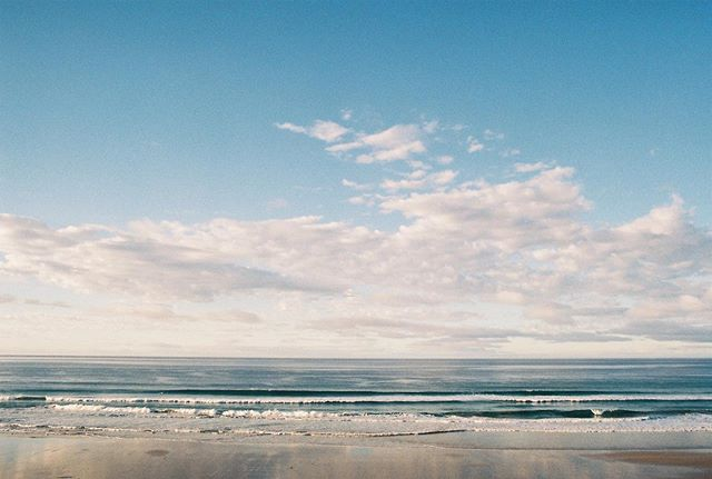 Cold sand, salt wind, day break.  The soft inhale and exhale of the ocean. This is my favourite song, this is my sun salutation.  #35mm