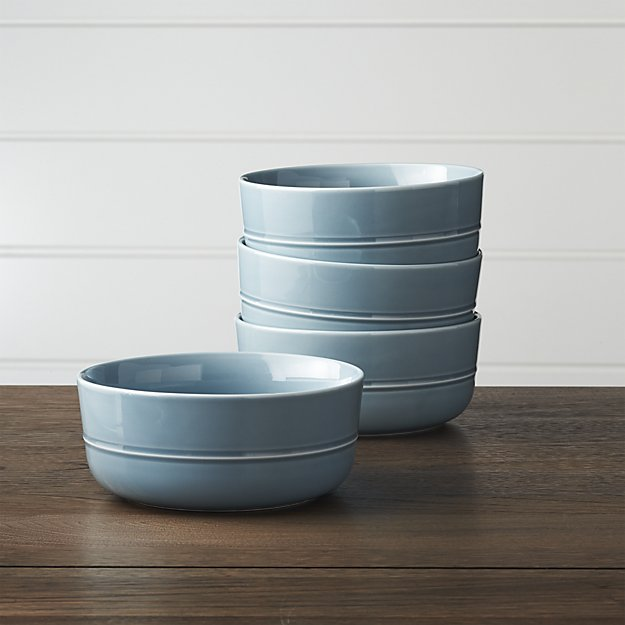 Crate and Barrel Hue Blue Bowl
