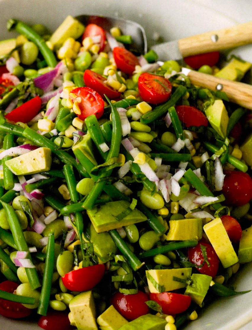 8 TO 10 SERVINGS   PREP TIME:20 MINUTES   COOK TIME : 4 MINUTES TO BLANCH GREEN
