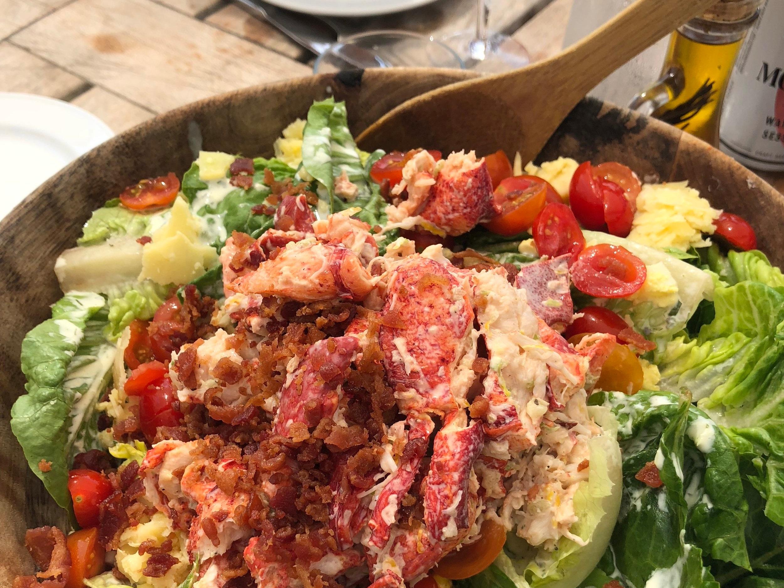 lobster cobb salad at Duryea's