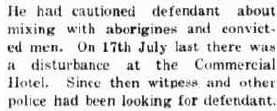 'cautioned defendant  about mixing with aborigines and convicted men .'