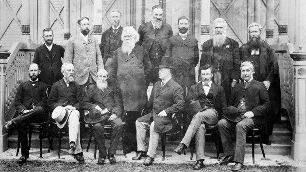 The need for constitutional change should be clear when you understand that it was these old white men that wrote the Constitution during the late 1800s without care or consideration for Aboriginal and Torres Strait Islander people. Just because white supremacy, erasure and the 'dispersal' of Indigenous people was the doctrine of the day, doesn't mean that it need continue in today's 'progresisve' times…   The Australasian Federation Conference delegates, Melbourne, February 1890. Photographer: Johnstone, O'Shannessy & Co,  National Archives of Australia.