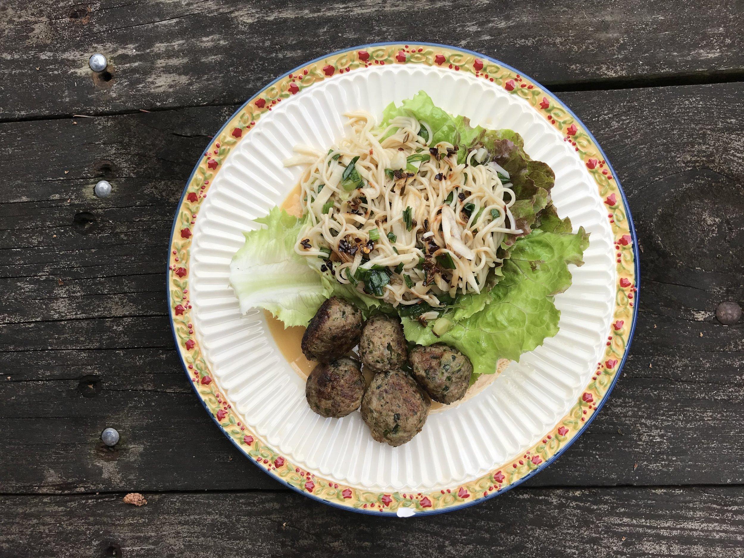 CSA3- Noodle Lettuce Wraps with Pork Meatballs & Crunchy Garlic Chile OIl.jpg
