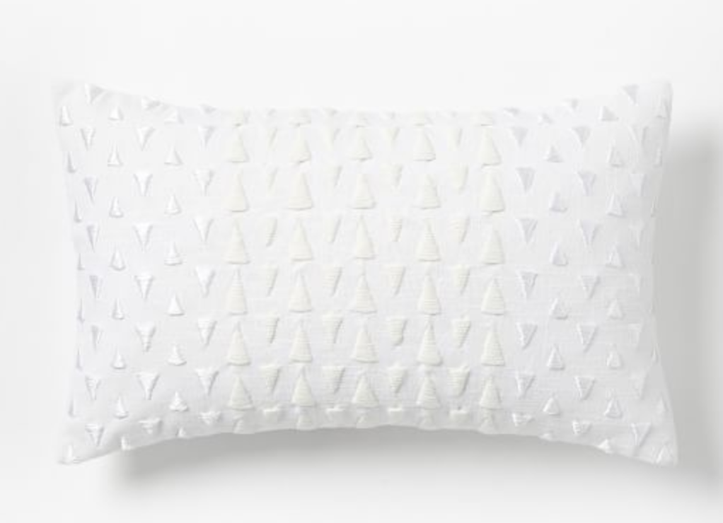 Embroidered White Pillow Covers