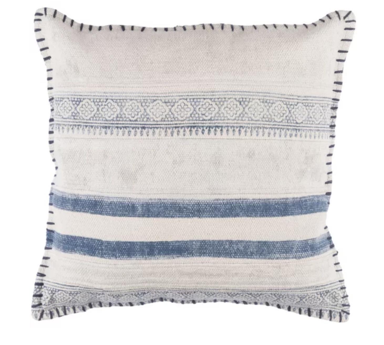 All Modern - Friedman Striped Cotton Throw Pillow