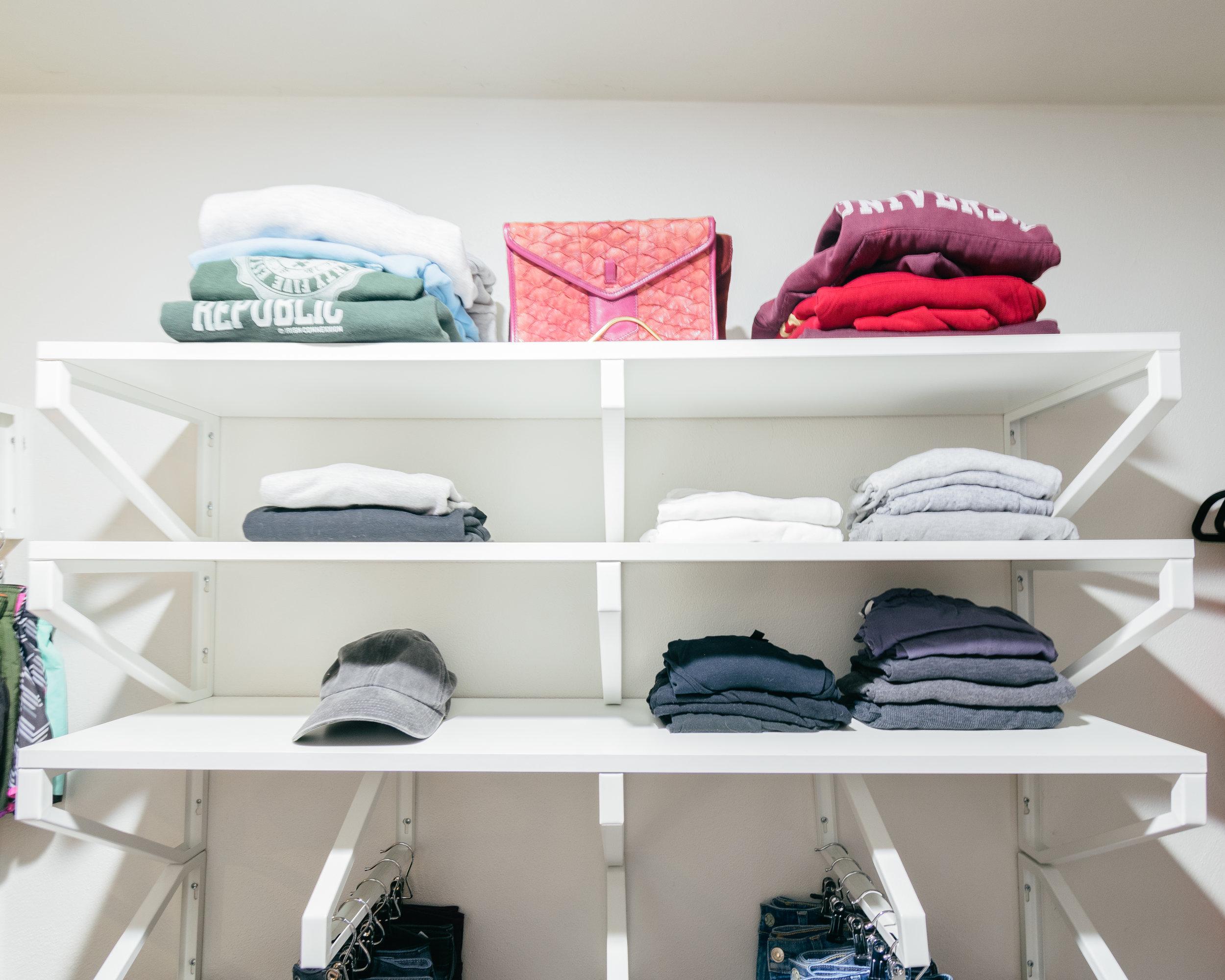 ikea closet small closet hack