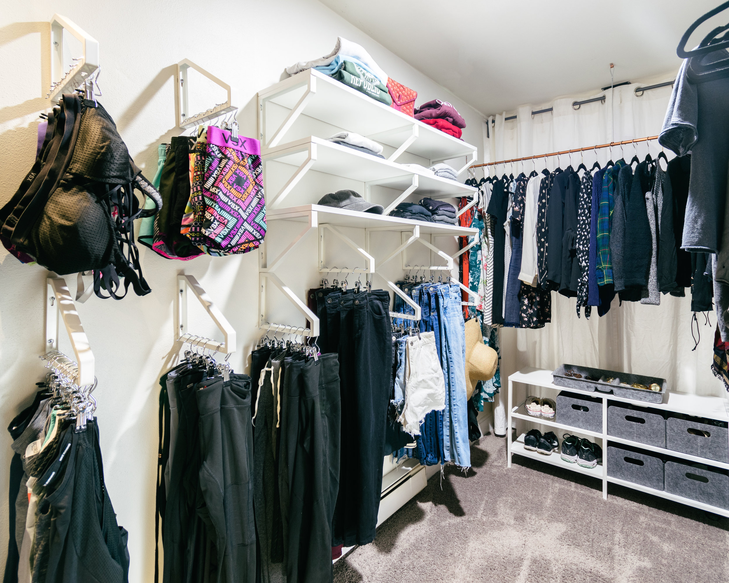 small space closet hack