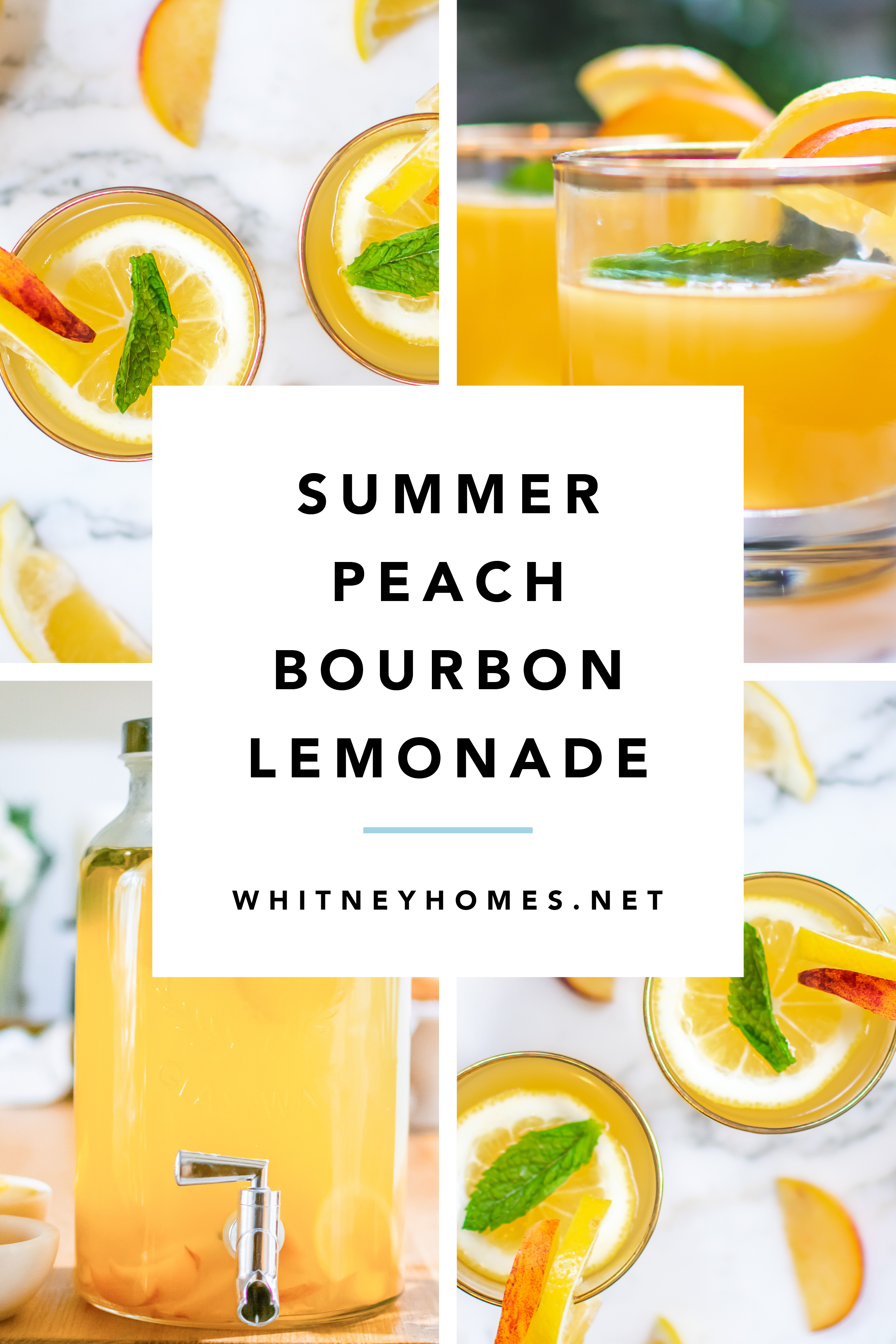 Summer Peach Bourbon Lemonade