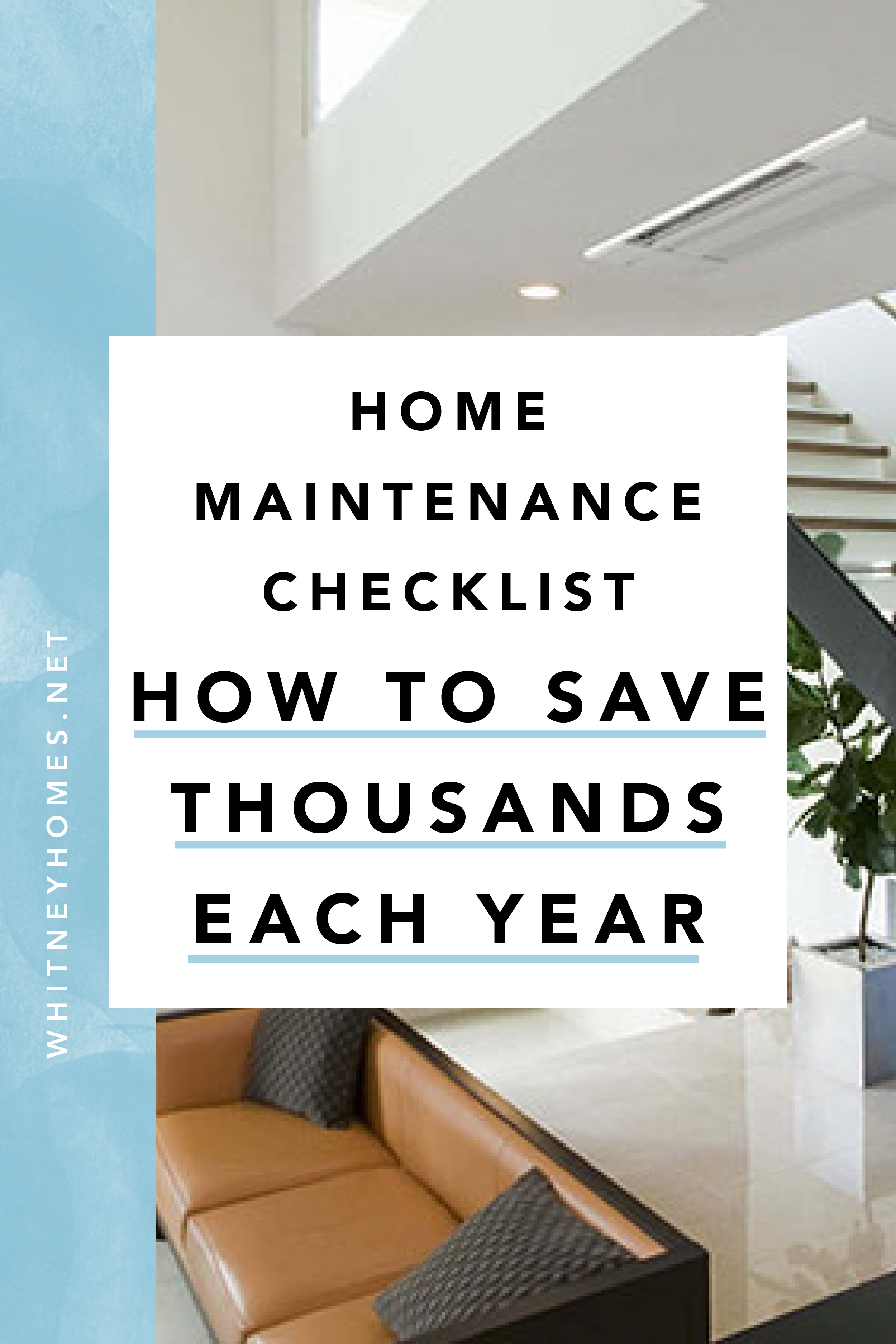 yearly homeowner Maintenance checklist