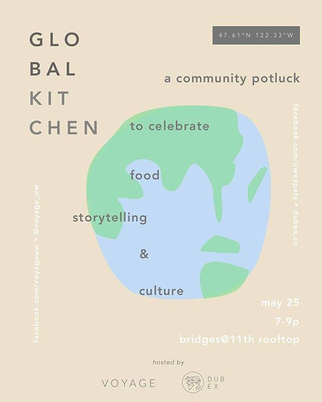 This Friday, we're hosting a community potluck to celebrate food, storytelling, and global diversity! Join us by bringing a dish or chipping in $6 for unlimited food! (Venmo @voyageuw) tickets are limited ☀️ check comments for more details.