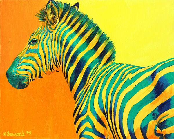 Animals - Paintings of zebras, lemurs, hyenas, impalas, giraffes, herding wildlife, and more by Sarah Soward.
