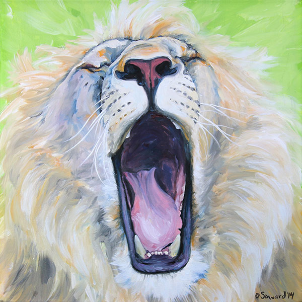 Wild Cats - Paintings of cheetahs, lions, bobcats, tigers, and more by Sarah Soward.