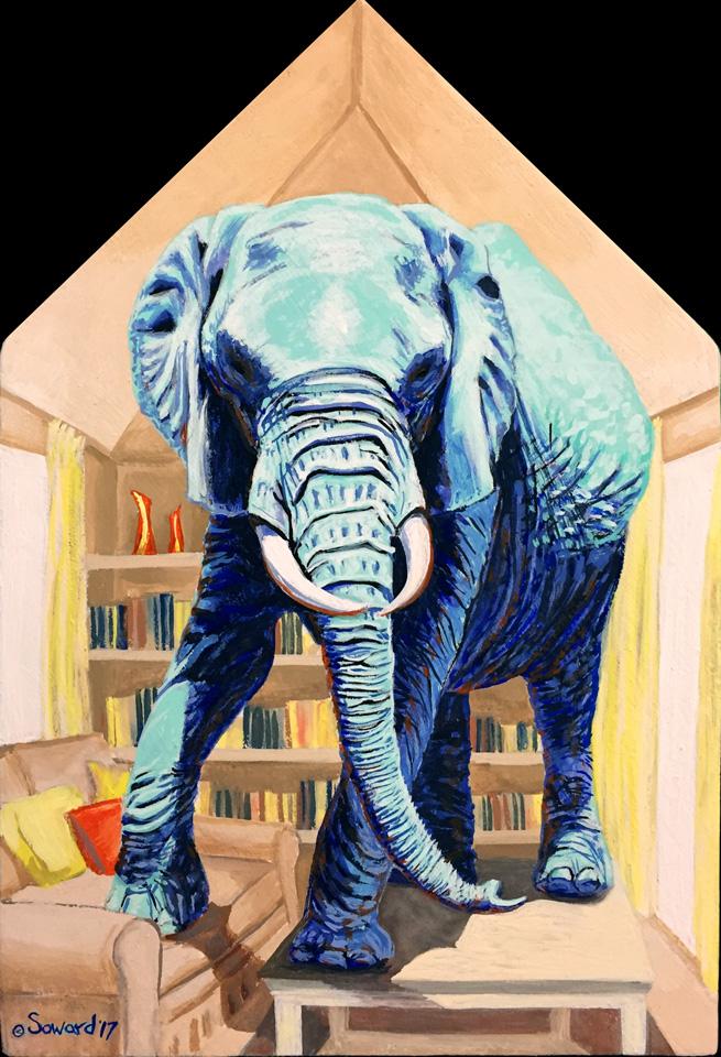 Elephants - Elephant Paintings, not part of the Stellae Errantes series, by Sarah Soward.