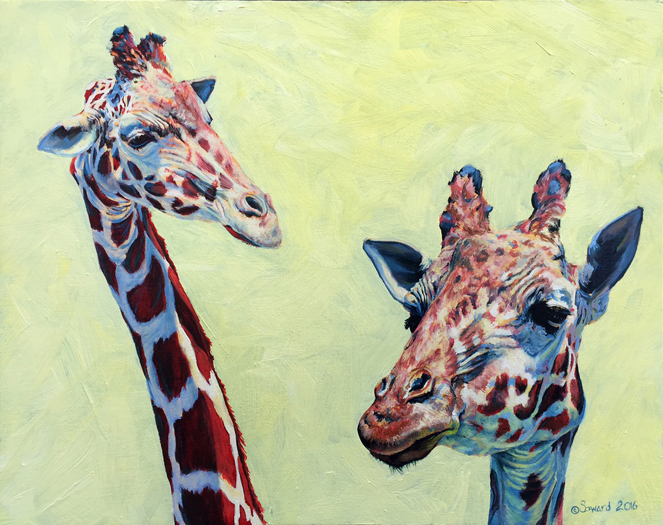 Giraffe-itude copyright Sarah Soward.