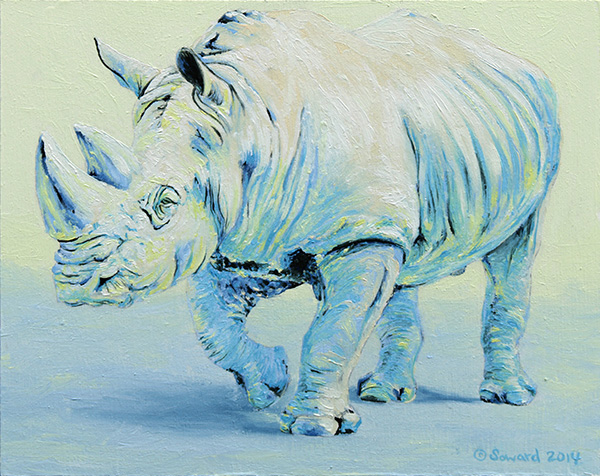 George Rhino  copyright Sarah Soward.